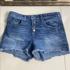 Mossimo high-rise short exposed button fly size 4